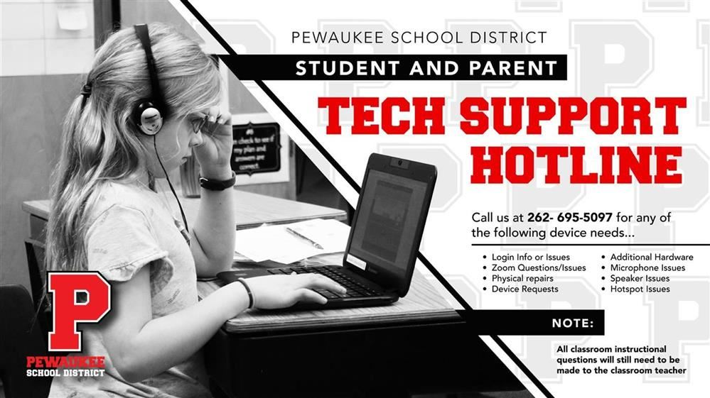 STUDENT TECH ISSUES?  CALL 262-695-5097