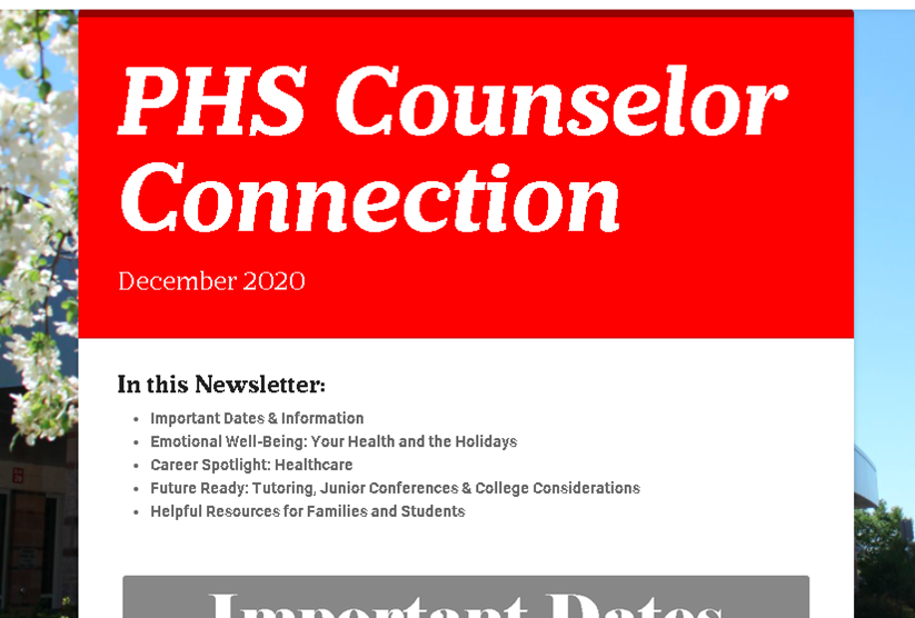 December Counselor Connection Newsletter