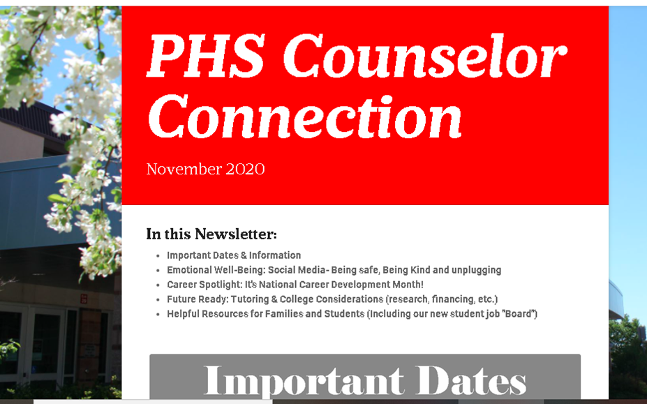 November Counselor Connection Newsletter