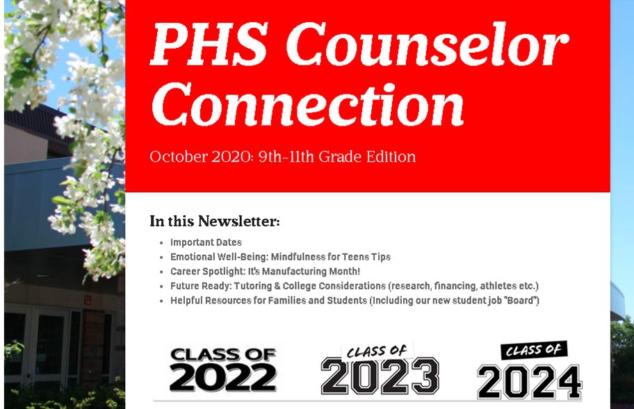 October Counselor Connection Newsletters