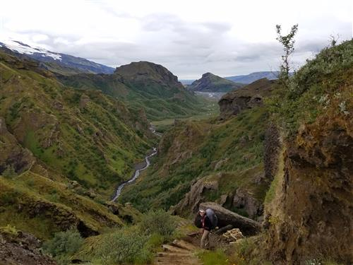 Backpacking in Thorsmork, Iceland