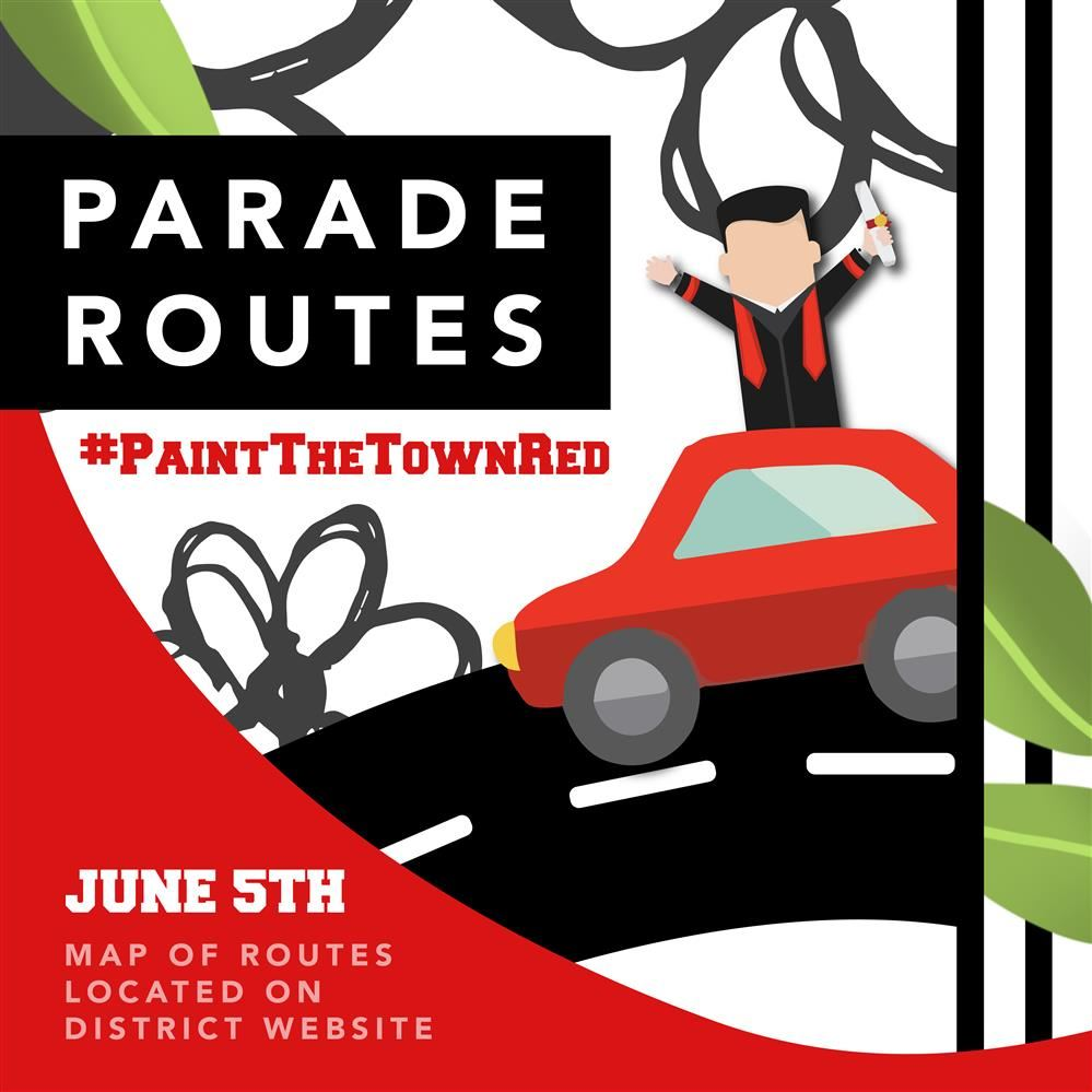 #PaintTheTownRed Parade Routes