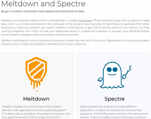 Spectre & Meltdown Vulnerabilities