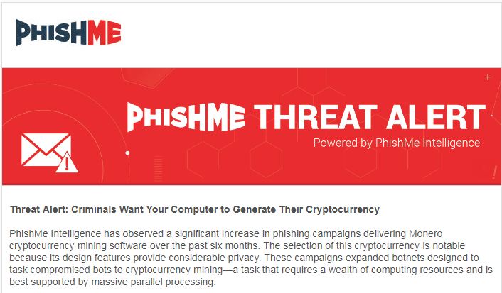 phishme alert on bots for bitcoins